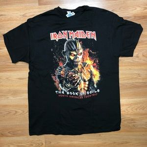 Iron Maiden 2017 Book Of Souls T-shirt L